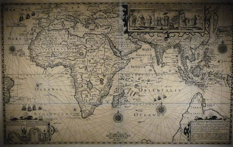 Resize of námořní mapa, Amsterdam 1597