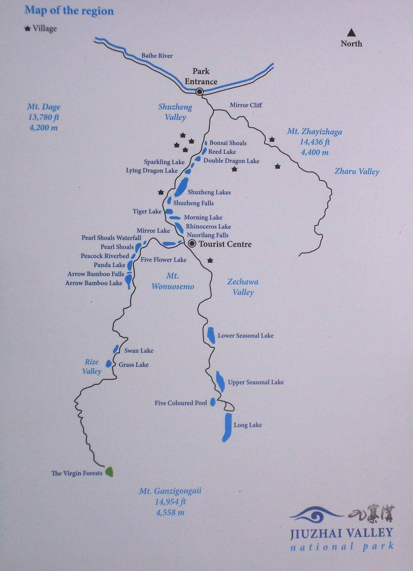 Resize of mapa Jiuzhaigou