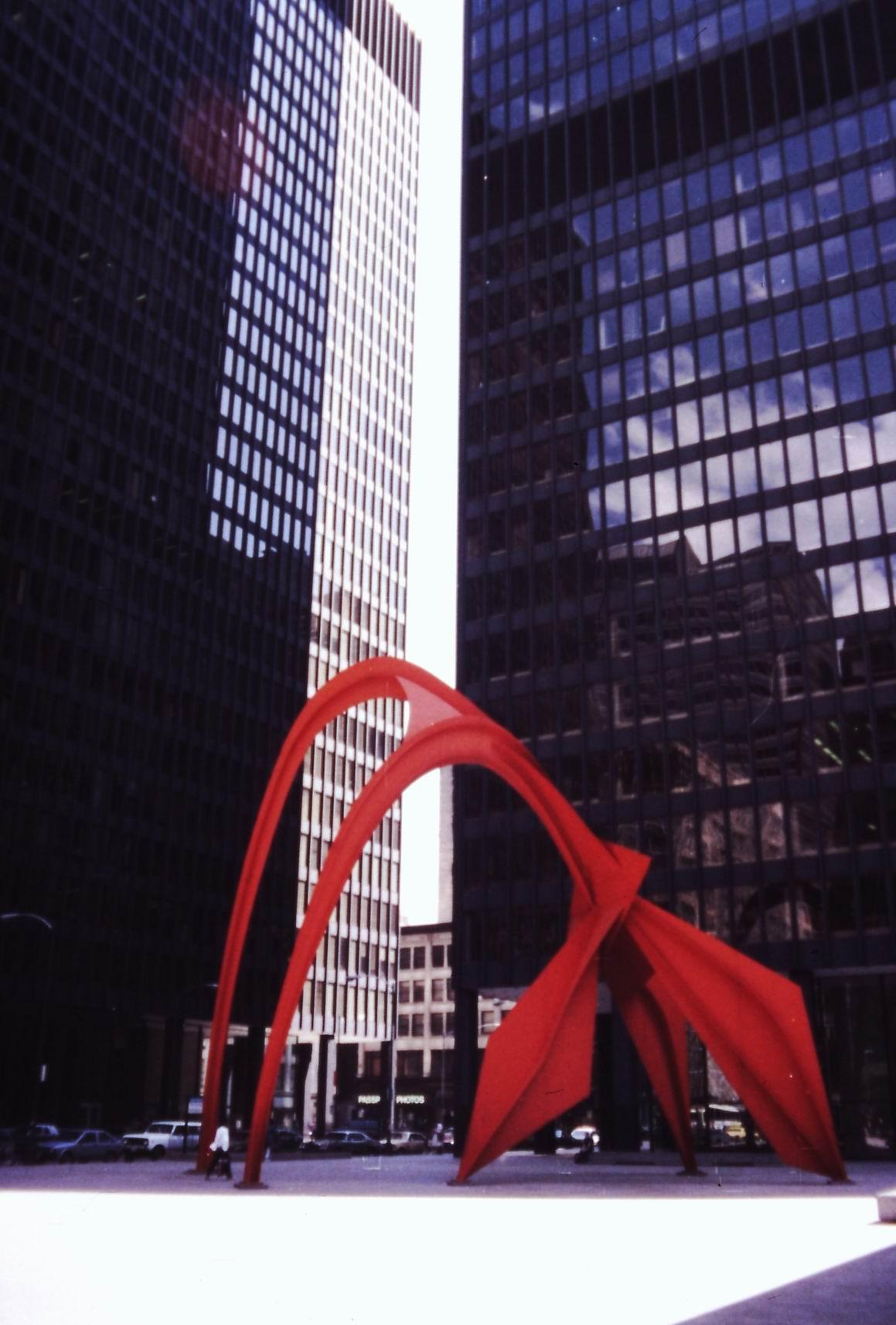 """""""Flamingo"""" od Alexandera Caldera v Chicagu"""