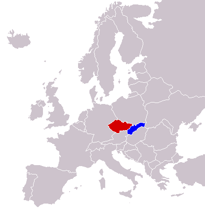LocationCzechiaSlovakiaInEurope
